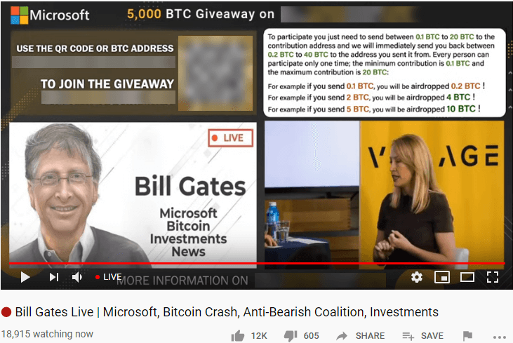 Bitcoin Scammers Impersonate Bill Gates and Endanger Almost